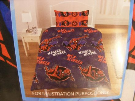 BN SPIDER-MAN SINGLE DUVET + PILLOWCASE SET - NEW DESIGN